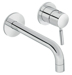 Merkur basin mixer in chrome.