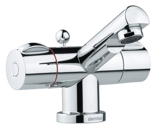 Danish designed Titan 2-grip basin mixer with pop up waste