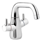 Product picture of danish designed basin mixer in chrome.