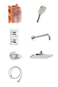 Pine HS 1 - Complete concealed shower system (Chrome/Silverhose)