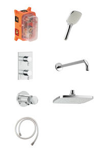 Pine HS 1 - Complete concealed shower system (Chrome/Silverhose)