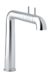 Damixa A-pex two-grip kitchen tap in steel.
