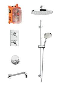 Hilina SR 1 - Complete concealed shower system (Chrome/Silverhose)