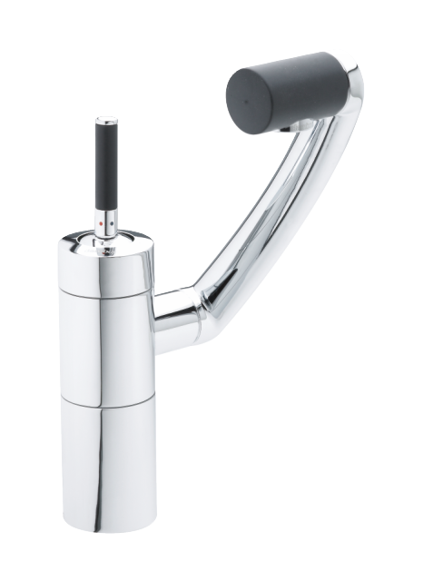 Damixa Arc one grip kitchen tap in chrome/black