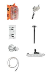 Hilina HS2 podtynkowy zestaw prysznicowy termostatyczny (Chrom/srebrny wąż)