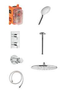 Bell HS2 podtynkowy zestaw prysznicowy termostatyczny (Chrom/srebrny wąż)