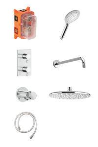 Bell HS1 podtynkowy zestaw prysznicowy termostatyczny (Chrom/srebrny wąż)