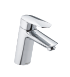 One-grip Clover Green basin mixer in chrome.