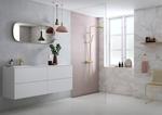 Messing håndvask vandhane og bruser fra Damixa Silhouet serien