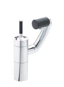 Arc Basin/Bidet Mixer with pop up waste (Chrome/Black)