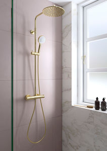 Silhouet Shower System (Polished Brass PVD)