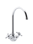 2-handle basin mixer in chrome