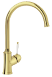 Damixa Tradition kitchen mixer in polished brass