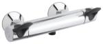 Clover Easy termostat armatur i krom/sort